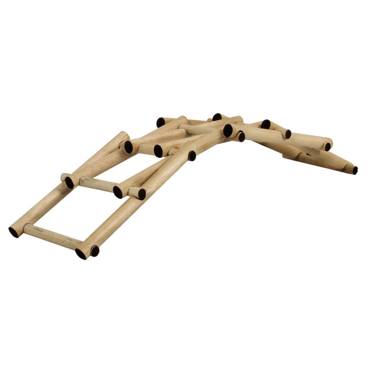 Leonardo's self supporting bridge Model